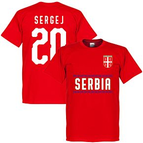 Serbia Sergej 20 Team Tee - Red