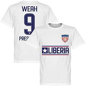 Liberia Weah 9 President Tee - White