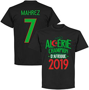 Algeria Champions of Africa Mahrez 7 Tee - Black