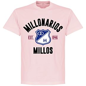 Millonarios Established T-Shirt - Pink