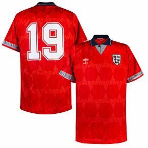 Umbro England 1990-1993 Away No.19 (Gascoigne) Shirt - USED Condition (Good) - Size M