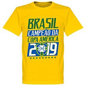 Brazil Campeao 2019 Tee - Yellow