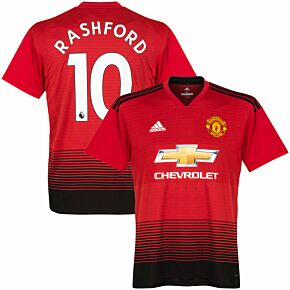 Manchester United Home Rashford 10 Jersey 2018 / 2019 (Authentic EPL Printing)