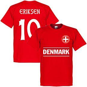 Denmark Eriksen 10 Team Tee - Red