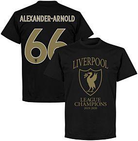 Liverpool 2020 League Champions Crest Alexander-Arnold 66 T-shirt - Black