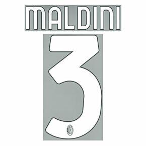 Maldini 3 (Official Printing) - 21-22 AC Milan Home