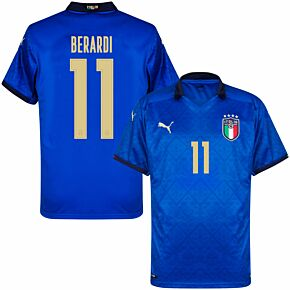 20-21 Italy Home Shirt + Berardi 11 (Official Printing)