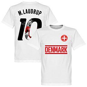 Denmark M. Laudrup 10 Gallery Team T-Shirt - White