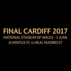 Champions League Final 2016 / 2017 Match Day Transfer (Gold - Juventus Home)
