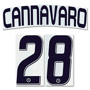 Cannavaro 28 - 07-08 Napoli Away Official Name and Number Transfer