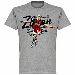 Ibrahimovic Script KIDS T-shirt - Grey Marl