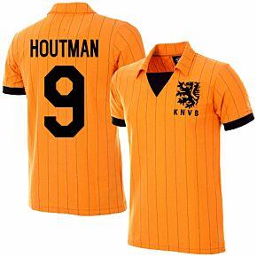 1983 Holland Home Retro Jersey + Houtman 9 (Retro Flock Printing)