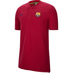 20-21 Barcelona Modern Grand Slam Polo Shirt - Red