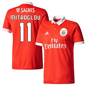 Benfica Home Mitroglou Jersey 2017 / 2018 (Fan Style Printing)