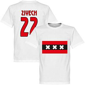 Amsterdam Team Ziyech 22 Tee - White