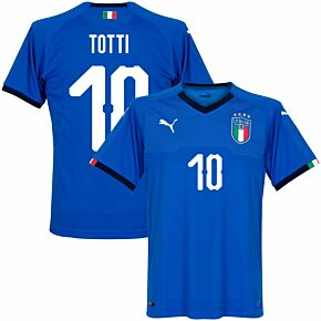 Italy Home Totti Jersey 2018 / 2019 (Fan Style Printing)