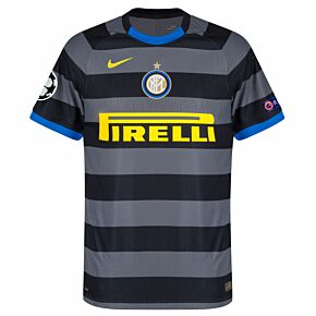 20-21 Inter Milan Vapor Match 3rd Shirt + C/L Starball / Respect Patches