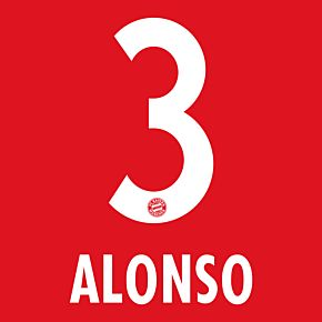 Alonso 3 - Bayern Munich Home KIDS Official Name & Number 2014 / 2015
