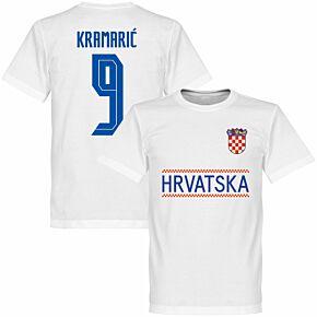 Croatia Kramaric 9 Team KIDS T-shirt - White