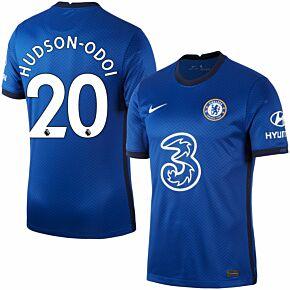 20-21 Chelsea Home Shirt + Hudson-Odoi 20