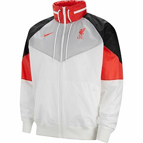 2021 Liverpool NSW Windrunner Hooded Jacket - White/Grey
