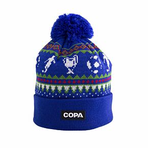 COPA Nordic Knit Beanie Hat - Blue/Red/Green