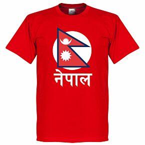 Nepal Flag Tee 2 - Red