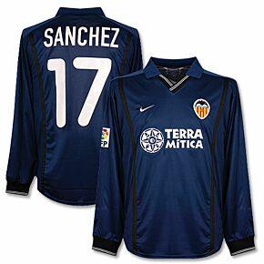 00-01 Valencia Away L/S Jersey + Sanchez No. 17 - Players