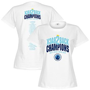 City Back to Back Champions Squad Womens Tee - White