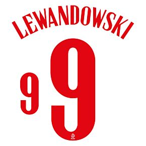 Lewandowski 9 (Official Printing) - 20-21 Poland Home