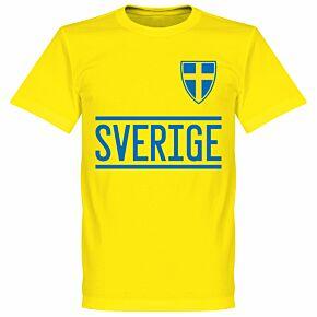 Sweden 2020 Team T-Shirt - Yellow