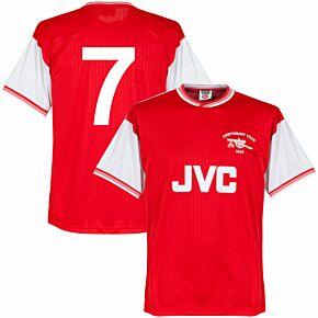 1985 Arsenal Home Centenary Retro Shirt + No. 7