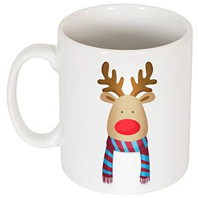 Reindeer Supporters Mug - Red/Sky