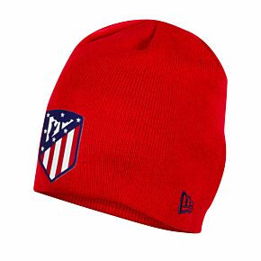 New Era Atletico Madrid Skull Knit Beanie Hat - Red