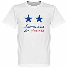 France 2-Star Champions du Monde Tee - White