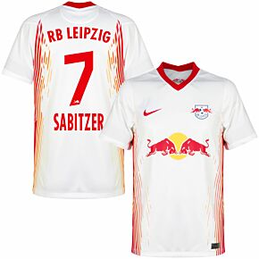 20-21 RB Leipzig Home Shirt + Sabitzer 7 (Official Printing)