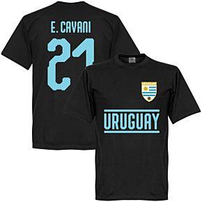 Uruguay Cavani 21 Team Tee - Black