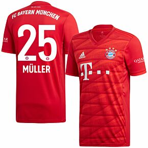adidas Bayern Munich Home Müller 25 Jersey 2019-2020 (Official Printing)