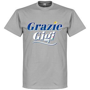 Grazie Gigi Text Tee - Grey