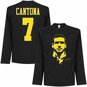 Cantona Silhouette L/S Tee - Black/Yellow