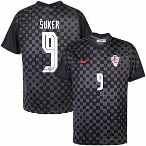 20-21 Croatia Away Shirt + Šuker 9 (Official Printing)