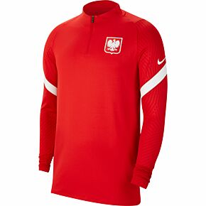 20-21 Poland Dry Fit Strike L/S Drill Top - Red