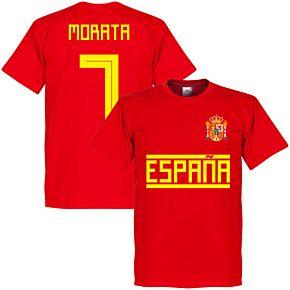 Spain Morata 7 Team Tee - Red