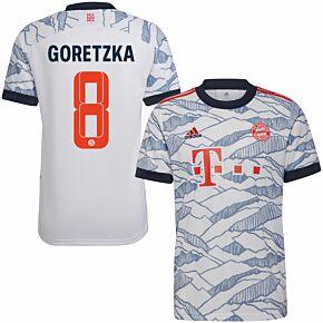21-22 Bayern Munich 3rd Shirt + Goretzka 8 (Official Printing)