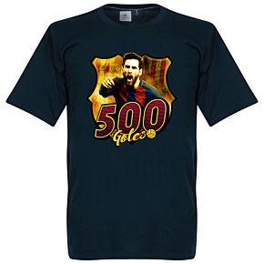 Messi 500 Club Goals Tee - Navy