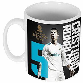 Ronaldo 5x Ballon d'Or Winner Mug