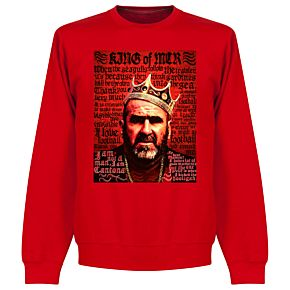 Cantona Old Skool Sweatshirt - Red