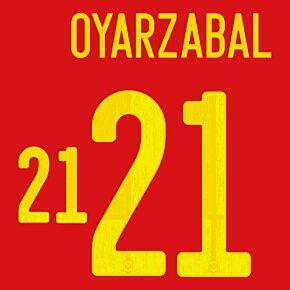 Oyarzabal 21 (Official Printing) - 20-21 Spain Home