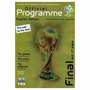 2006 Official World Cup Program - The Way to the Final (English)