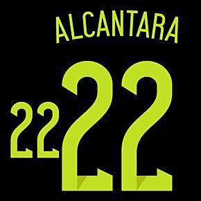 Alcantara 22 14-15 Spain Away Official Name & No. Set